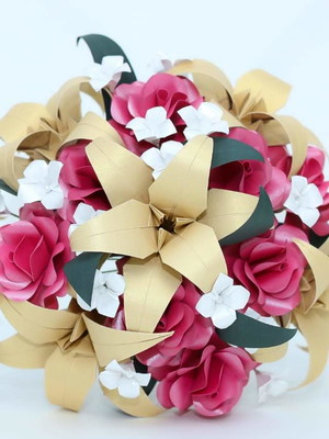 Buquê de origami Bruna {noiva}