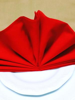 Guardanapo de tecido vermelho 45x45cm