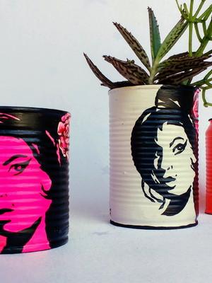 Amy Winehouse | lata para plantas