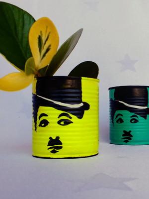 Charles Chaplin | lata para plantas