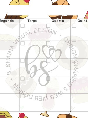 Arte Gráfica Planner Semanal Sobremesa