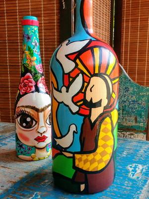 São Francisco | garrafa decorada