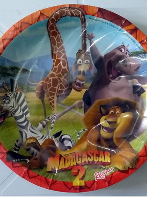 Pratinho Madagascar Aniversário (08 Pratinhos)