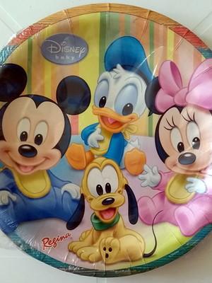 Pratinho Turma Mickey Baby Disney Aniversário (08 Pratinhos)