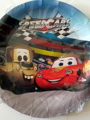 Pratinho Carros Speedcars Aniversário (08 Pratinhos)