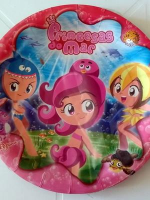 Pratinho Princesas do Mar Aniversário (08 Pratinhos)