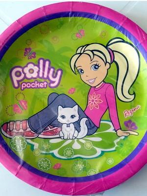 Pratinho Polly Pocket Aniversário (08 Pratinhos)