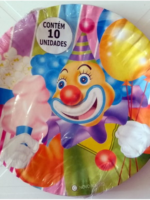 Pratinho Palhaço Circo Aniversário (10 Pratinhos)