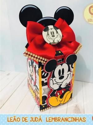 Caixa Milk Com aplique Mickey