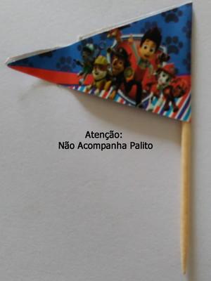 Topper Tag Bandeirinha Patrulha Canina (30 unid.)