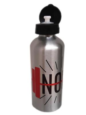 Squeeze de Alumínio Personalizado Prata 600 ml c/ Dois Bicos