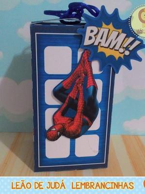 Caixa Prédio tema Homem Aranha