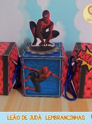 Caixa bala com aplique 3D Homem Aranha