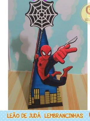 Caixa Pirâmide tema Homem Aranha