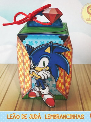 Caixa tema Sonic