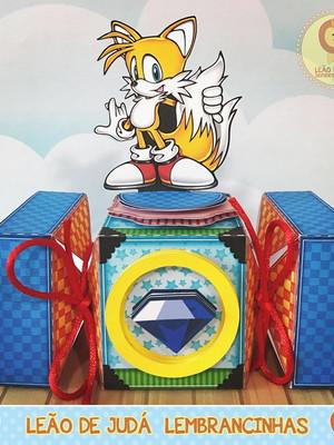 Caixa bala com aplique Sonic