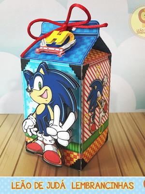 Caixa Milk Com aplique Sonic
