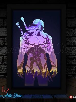 Arquivos de corte para Luminária The Witcher