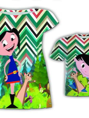 Vestido Mãe + Camisa Filho - Luna e Irmão