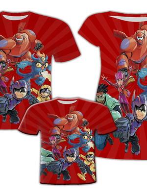 Camisa Pai e Filho + Vestido Mãe - Big Heróis