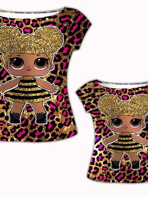 Camisa Mãe e Filha - LOL Queen Bee
