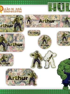 Adesivos escolar - 130 unidades Tema Hulk - Frete Grátis