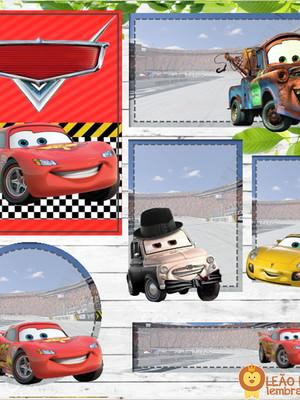 Adesivo escolar - 70 unidades Tema Carros - Frete Grátis