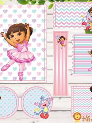 Adesivo escolar - 70 unidades Tema Dora Aventureira - Frete
