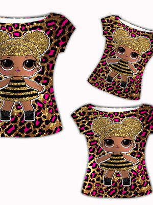 Camisas Mãe e Filhas - LOL Queen Bee