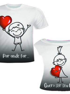 Camisa Masculina + Camisa Feminina - Por Onde For