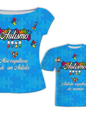 Camisa Mãe e Filho - Autismo
