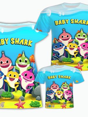 Camisa Pai e Filho + Vestido Mãe - Shark
