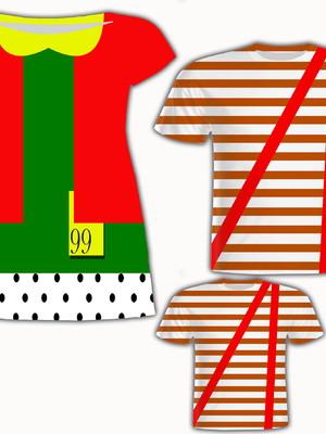 Camisa Pai e Filho + Vestido Mãe - Turma do Cha 2