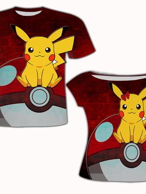 Camiseta Mãe e Filho - Poké Bola
