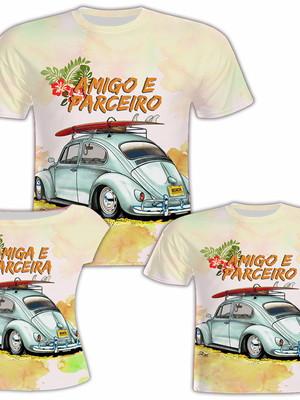 Camisa Pai e Filho + Camisa Filha - Amigos e Parceiros