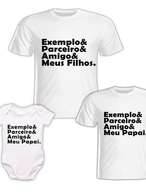 Camisa Pai e Filho + Body Baby - Meu Pai, Meus Filhos