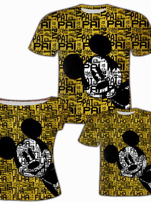 Camisa Pai e Filho + Camisa Filha - Pai Pai Pai