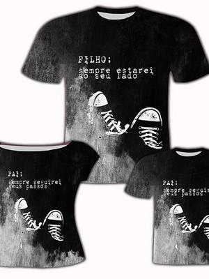 Camisa Pai e Filho + Camisa Filha - Sempre Seguirei
