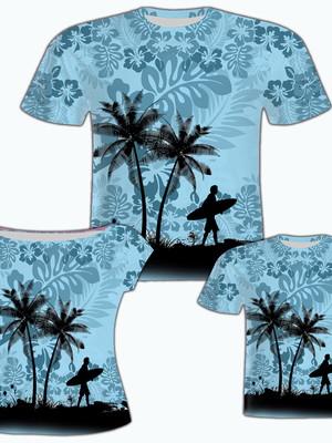 Camisa Pai e Filho + Camisa Filha - Surf