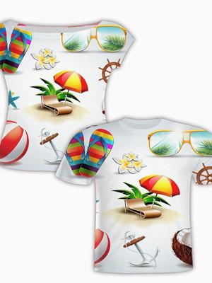 Camisa Masculina + Camisa Feminina - Tropical 5
