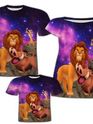 Camisa Pai e Filho + Vestido Mãe - Leão 4