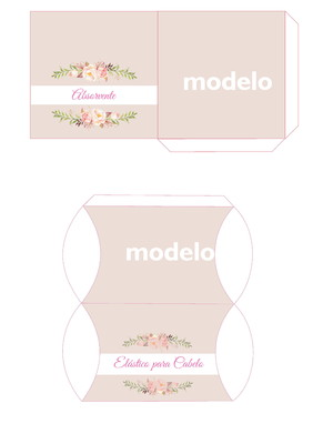 Kit toalete digital floral rosa para impressão