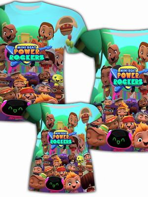 Vestido Mãe e Filha + Camisa Pai - Rockers