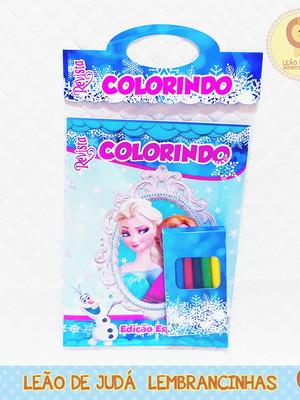 Revistinha para colorir Tema Frozen