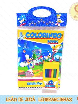 Revistinha para colorir Tema Sonic
