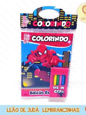 Revistinha para colorir Tema Homem Aranha