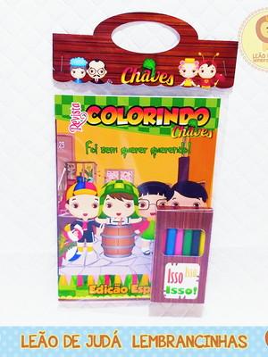 Revistinha para colorir Tema Chaves
