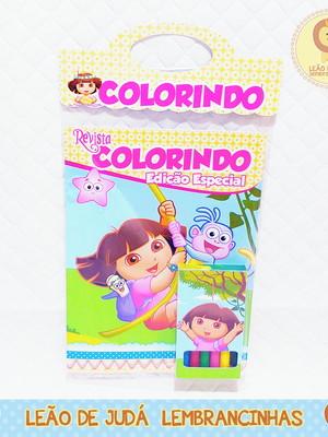 Revistinha para colorir Tema Dora Aventureira