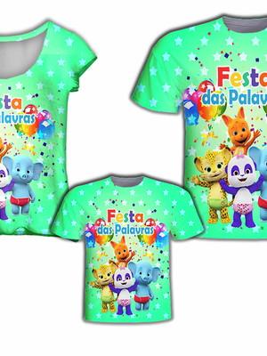 Camisa Pai e Filho + Camisa Mãe - Festas Das Palavras