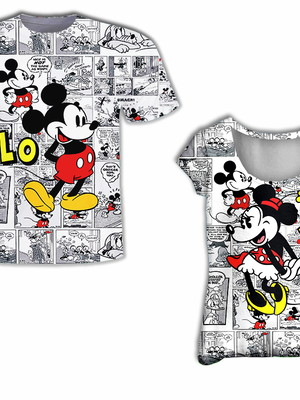 Camisa Feminina + Camisa Masculina - Mick e Mini LoVe